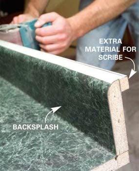 Countertop with backsplash