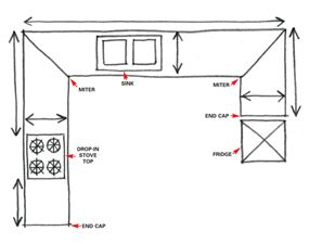 Kitchen countertop plan