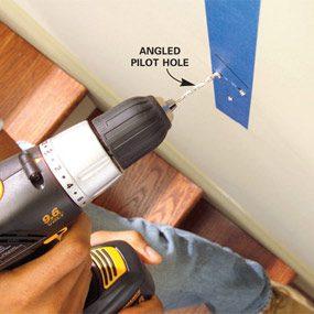 Photo 10: Drill pilot holes