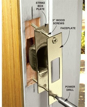 How To Reinforce Doors Entry Door And Lock Reinforcements Family Handyman
