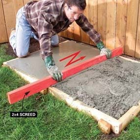 How to finish concrete the family handyman for What temperature to pour concrete outside