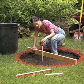 Dig a shallow hole