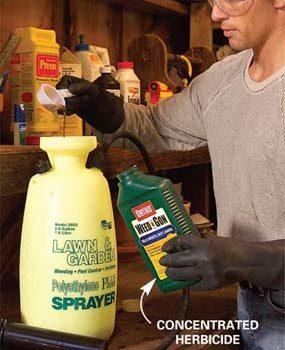 Mixing herbicide