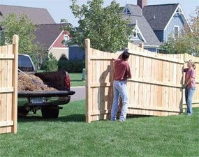 Removable Fence build a privacy fence | family handyman