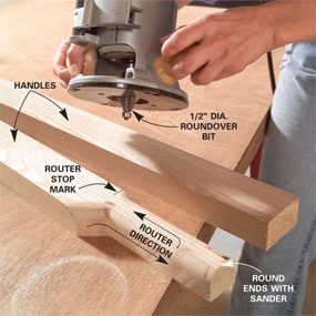 Photo 3: Shape the handles
