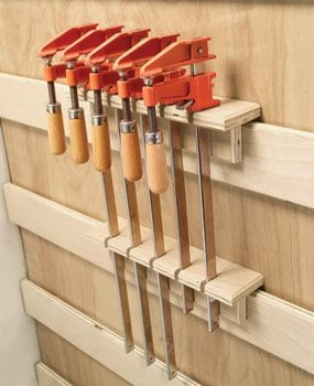 Photo 14: Clamp storage