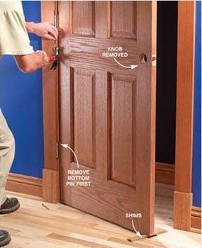 Removing a door