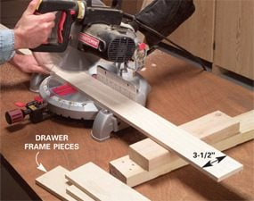 Photo 2: Cut the drawer sides