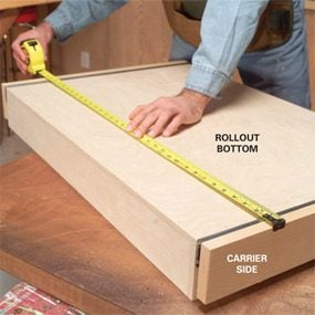 Photo 8: Measure the carrier bottom