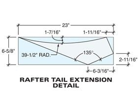 Tech art of the rafter tail extension