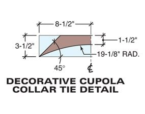 Tech art of the cupola collar tie