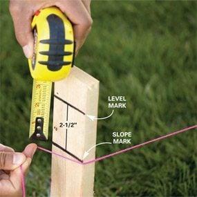 Photo 2: Establish the slope