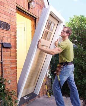Pre-hung doors simplify installation.