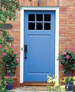 Replace an exterior door