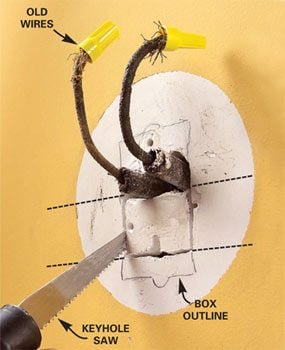 how to connect old wiring to a new light fixture family handyman rh familyhandyman com Old Electrical Wiring Types Old School Electric Wiring