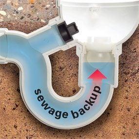 Floor drain backwater valve