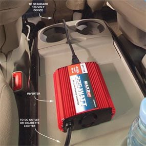 Power a Laptop or TV With a Car Power Inverter