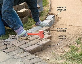 Photo 9: Set the pavers with staggered joints