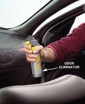 One pump of Odor Gun eliminates odors.