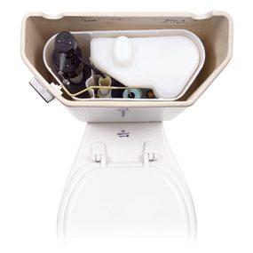 Inside a vacuum-assist toilet