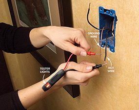 how to use cheap electrical testers and voltage detectors family rh familyhandyman com how to test wiring for rodent damage how to test wiring in dryer