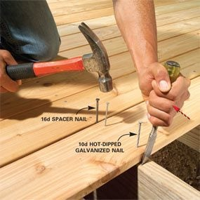 Set And Nail Decking Perfectly The Family Handyman