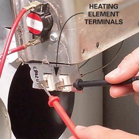 1A Heating element terminals