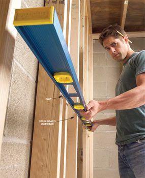 How To Straighten Bowed Stud Walls The Family Handyman