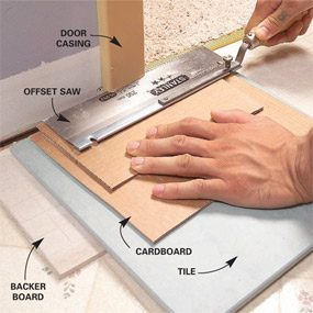 How To Lay Tile Install A Ceramic Tile Floor In The Bathroom The - Easiest floor tile to install
