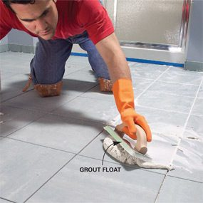 Photo 16: Grout the joints