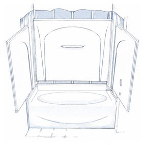 3 piece tub shower combo. Figure A  Four piece tub shower How to Install a Bathtub an Acrylic Tub and Surround