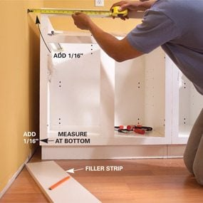 Interior How To Set Cabinets how to install kitchen cabinets family handyman cabinets