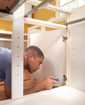 Photo 16: Install cabinet doors