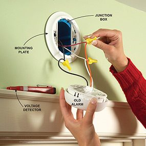 Install New Hard Wired Or Battery Powered Smoke Alarms Family