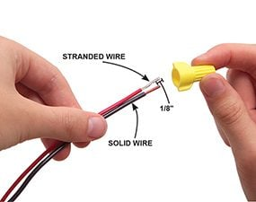 Connect solid and stranded wires