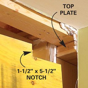 You may need to notch an end when you install the load bearing beam.