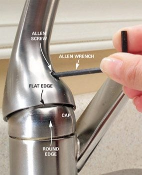 How To Repair A SingleHandle Kitchen Faucet The Family Handyman - Replacing a kitchen faucet