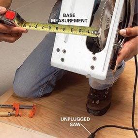 Photo 1: Measure the base plate