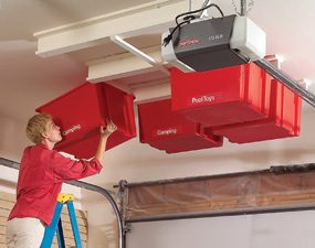 Perfect Create A Sliding Storage System On The Garage Ceiling