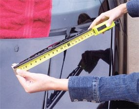 Measure both blades and buy refill the exact lengths.