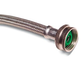 Install no-burst stainless steel hoses