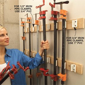 PVC pipe grips clamps tightly