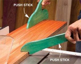 Use push sticks
