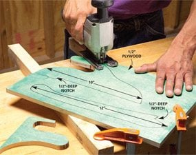Use a jig saw to cut your own custom made push sticks.