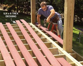 Photo 5: Install the decking