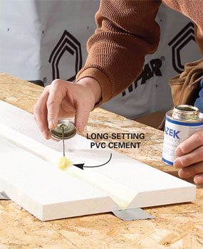 Use PVC cement