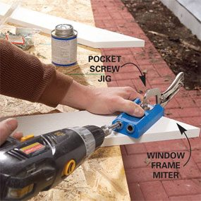 Use a pocket hole jig to predrill holes at the joints.