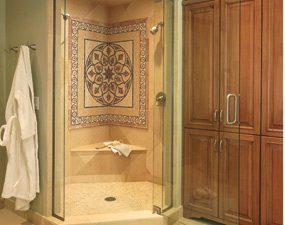 A beautiful shower stall mosaic.