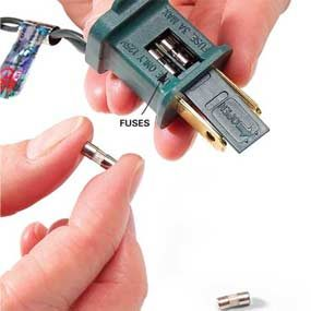 Open the cover on the plug and replace any blown fuses.
