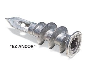 EZ anchors have a strong hold in drywall
